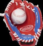 PL91SR RH - Rawlings Players 9 inch Baseball/Softball Glove with Soft Core Ball (LHT)_