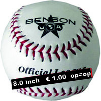 BUSA80H - Benson USA of Diamond 8 inch Leren BeeBall