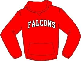 Falcons Hoodie Rood