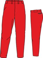 PA BUDGET (SCARLET) - Polyester Budget Baseball/Softball Pants