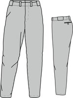 PA ECO (GREY) - Economy Baseball/Softball pant