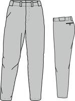 PA ECO (GREY) - Economy Baseball/Softball Pants