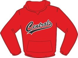 Centrals Hoodie Rood