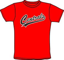 Centrals T-shirt Rood
