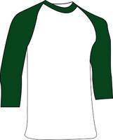 Dark Green Ondershirt 3/4 mouw Katoen