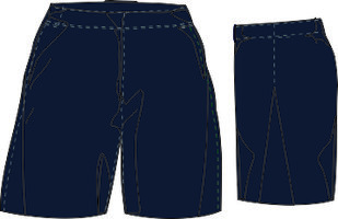 Blue Hitters Short