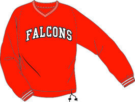 Falcons Windbreker Rood