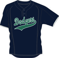 Domstad Dodgers BP Jersey Mesh