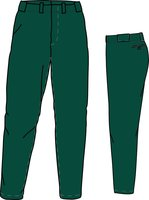 PA BUDGET DARK GREEN - Polyester Budget Honkbal/Softbal Broek
