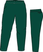 PA SI LADIES (DARK GREEN) - Special Ladies Cut Softball Pant
