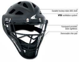 CM6M - Champro Rubberized Mat Finish PRO-PLUS Catcher's Hockey Stijl Helm