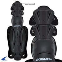 CG270KC - Champro Hockey Style Umpire Legguards Knee Extensions