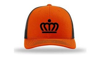 KingCap512Kr - Richardson Kingdom Team Trucker Cap Orange/Black Kroon