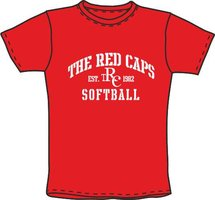 Red Caps Softball T-Shirt