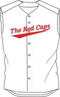 Red Caps Sleeveless Softball Jersey