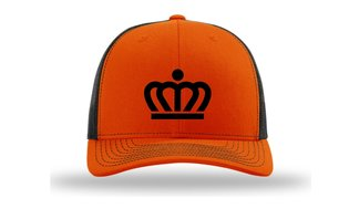 KingCap512KR - Richardson Kingdom Team Trucker Cap Orange/Black Kroon