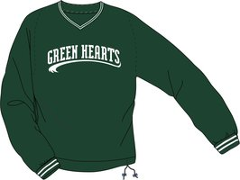 Green Hearts Windbreker