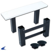 B042- Champro Dual Stanchion Pitcher's Rubber System