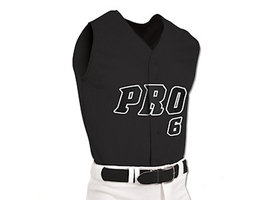BS6 - Pro Mesh Full Button Sleeveless Jersey