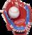 PL91SR RH - Rawlings Players 9 inch Baseball/Softball Glove with Soft Core Ball (LHT)