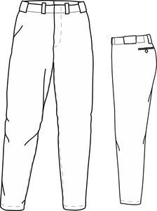 PA PRO (WHITE) - SSK Polyester Baseball/Softball Pants