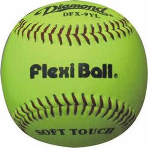 """DFX9YL - Diamond 9"""" Flexi Ball Leren Practice Bal"""