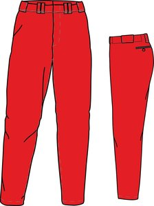 PA GO (SCARLET) - SSK Gold Quality Baseball/Softball Pants