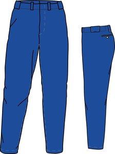 PA PRO (ROYAL) - SSK Polyester Baseball/Softball Pants