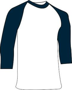 Navy Ondershirt 3/4 mouw Katoen