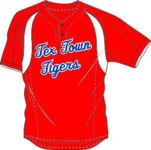 Tex Town Tigers Practice Jersey