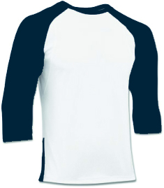 BS24 Navy - Ondershirt 3/4 mouw Polyester