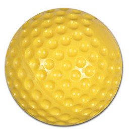 "CBB-58 - Champro 9"" Yellow Dimple Molded Honkbal"