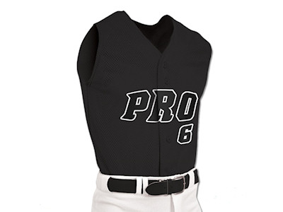 BS6 - Pro Mesh Full Button Sleeveless Jersey