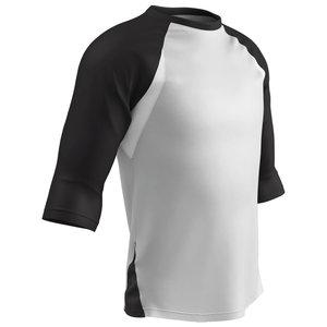 BS24 - Polyester 3/4 Sleeve Ondershirt Zwart